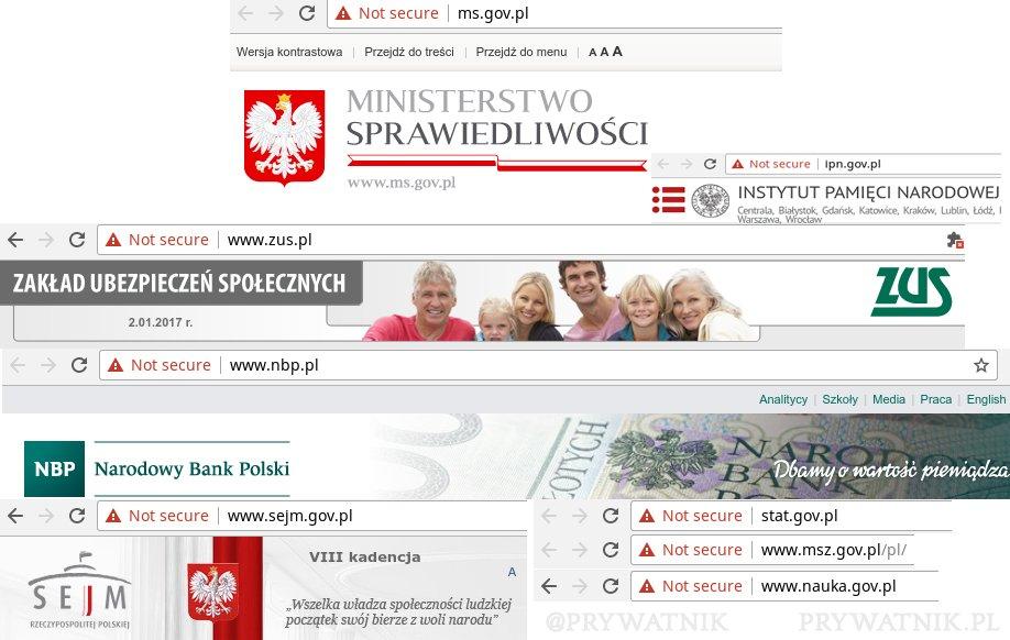 Bezpieczeństwo stron polskich instytucji?